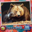 Puzzlebug 100 Piece Puzzle - Mommy and Baby Bear by LPF