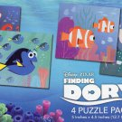 Disney Finding Dory - 4 Puzzle Pack - 12 Piece Jigsaw Puzzle (Set of 4 Different Puzzles)
