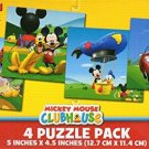 Disney Mickey Mouse - 4 Puzzle Pack