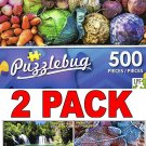 Colorful Vegetables at the Market - 500 Piece Jigsaw Puzzle Puzzlebug + Bonus 2017 Magnetic Calendar