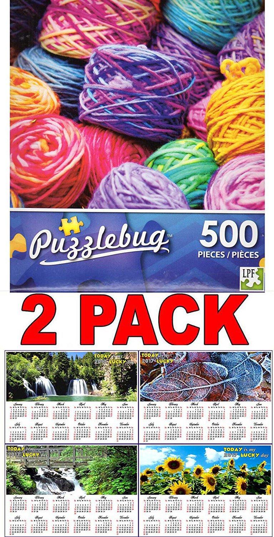 Colorful Yarn - 500 Piece Jigsaw Puzzle + Bonus 2017 Magnetic Calendar