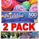 Colorful Yarn - 500 Piece Jigsaw Puzzle + Bonus 2017 Magnetic Calendar