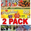 Fence made of recycled traffic signs - 300 Piece Jigsaw Puzzle  + Bonus 2017 Magnetic Calendar