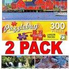 Lunenburg, Nova Scotia - 300 Piece Jigsaw Puzzle Puzzlebug + Bonus 2017 Magnetic Calendar