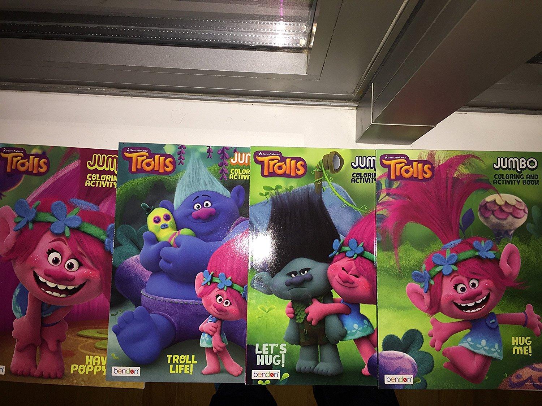 Trolls Coloring Book Bundle Set of 4