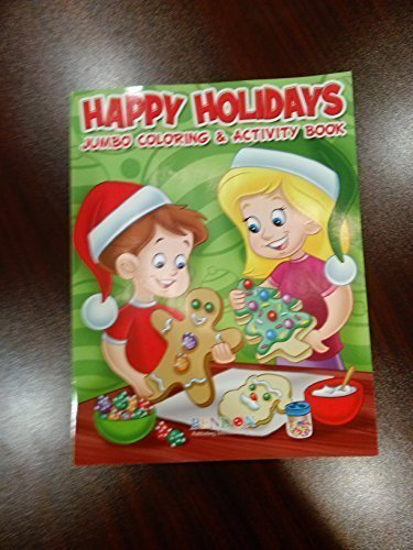 Happy Holidays Jumbo Coloring and Activiry Book