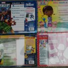 Disney Junior Wipe Clean Activity Board (Assorted, Designs Vary) by Disney Set of 4