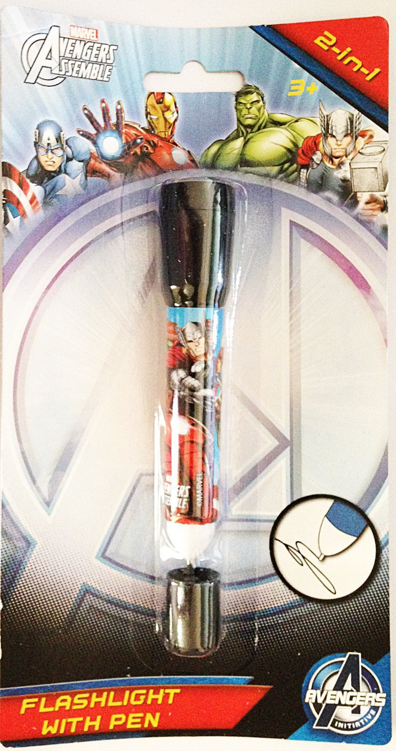 Marvel Avengers Assemble 2-in-1 Flashlight with Pen (Style May Vary)