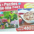 LPF 480 Piece 2-in-1 Puzzle ~ Farm Hands & American Pie