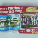 2 in 1 Puzzles -  (Waterfront Vacation & Colorful Buoys)