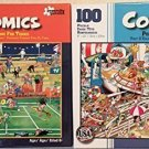 Bundle of 2 Comics 100 Piece Jigsaw Puzzles by Papercity Puzzles.