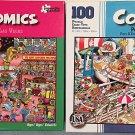 Bundle Lot of 2 Comics 100 Piece Jigsaw Puzzles: Las Vegas ~ Port of Call