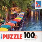 River Walk, Texas 100 Pieces Jigsaw Photo Puzzle