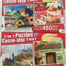 Bundle Lot of Two 2 in 1 Puzzles for a Total of Four Puzzles!