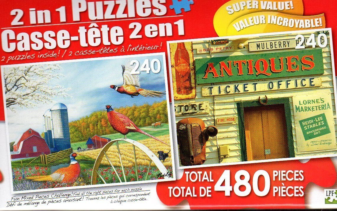 Pheasant Country and Rosseau General Store- Total 480 Piece 2 in 1 Jigsaw Puzzles
