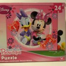 Pink Minnie Mouse Bow-Tique and Butterflies Jigsaw Puzzle (24 Piece)