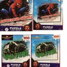 Spider-man Homecoming Puzzle 2 Piece Bundle Set (100 Pieces Each)