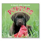 16 Month Wall Calendar 2018 - Puppies