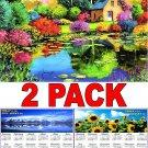 Provence - 16 Month 2018 Wall Calendar Scheduler Organizer + Bonus 2018 Magnetic Calendar