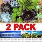 Succulents - 16 Month 2018 Wall Calendar Scheduler Organizer + Bonus 2018 Magnetic Calendar