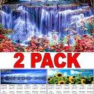 Waterfalls - 16 Month 2018 Wall Calendar Scheduler Organizer + Bonus 2018 Magnetic Calendar