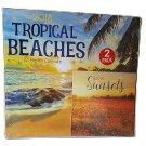 2018 Tropical Beaches 12-Month Wall Calendar with Mini Cal endar 2pcs Gift Set