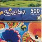 PUzzlebug Jigsaw Puzzles Hot Air Balloons Theme Bundle: Ballooning Skies (500 Pieces )