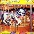 Vintage Merry-Go-Round With Horses - 300 Large Pieces Jigsaw Puzzle - Puzzlebug - p 003