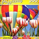Hot Air Balloon Over Tulip Garden - 300 Large Pieces Jigsaw Puzzle - Puzzlebug - p 003