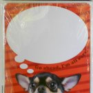 "'Cute Puppy' Dry Erase Locker Magnet - 11"" x 8.5"" (Chihuahua with Red Background)"