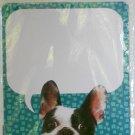 "'Cute Puppy' Dry Erase Locker Magnet - 11"" x 8.5"" (Pug with Blue Background)"