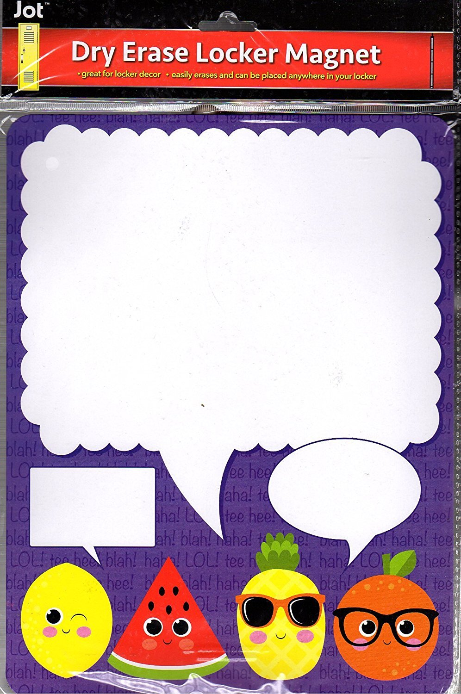 Dry Erase Locker Magnet - Message Board Magnetic / Locker Wallpaper - (Full sheet Magnetic) - v1