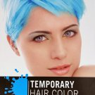 Electric Blue Temporary Hair Color 1 Kit Comb In Wash Out 1 Color Pack 0.5 oz 1 Comb