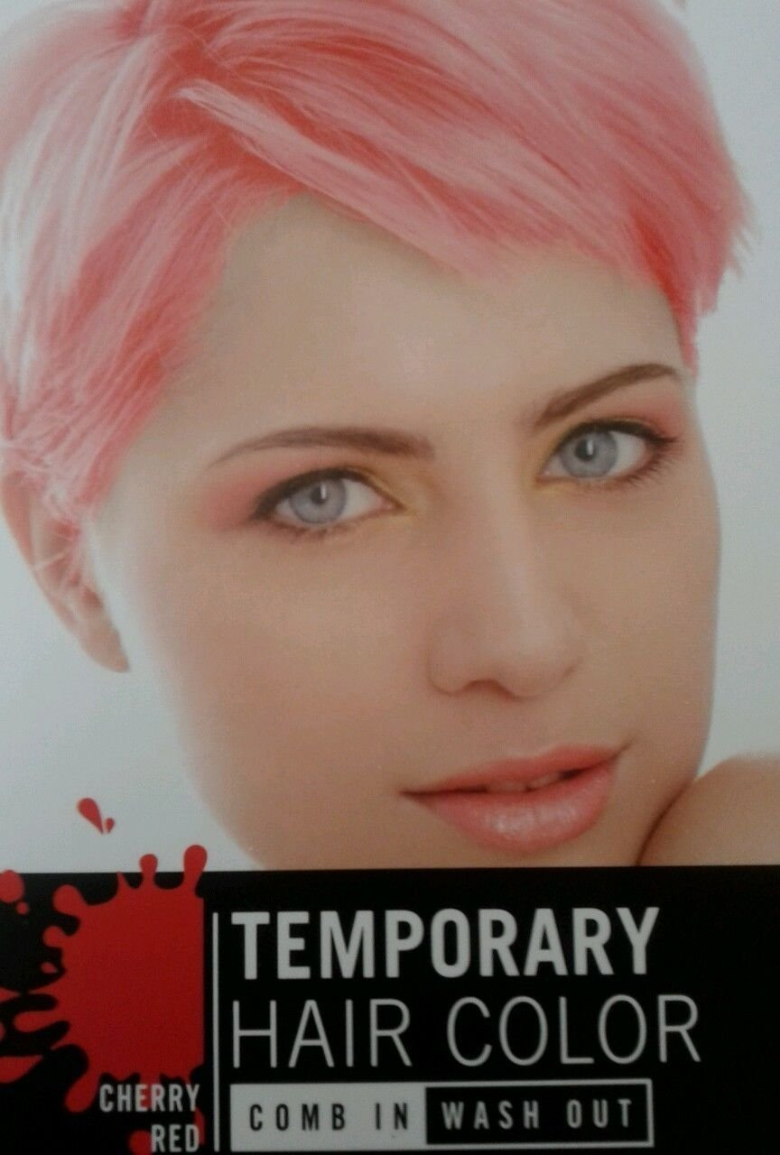 Temporary Hair Color - Cherry Red - Comb in / Wash Out - 1 Hair Color Kit by Greenbrier