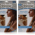 As Seen On TV Shimmer Metallic Jewelry Tattoos (2 Pack)