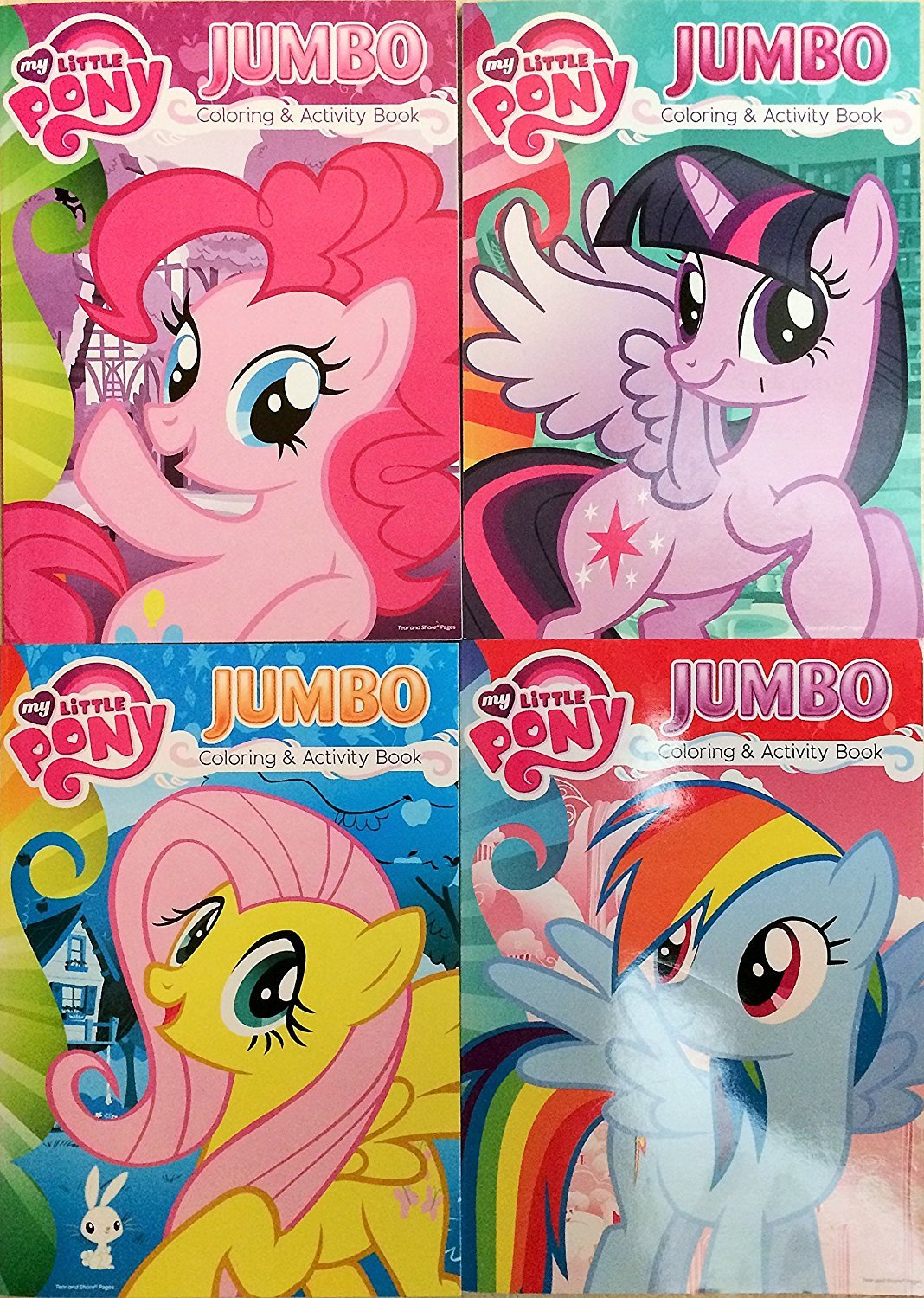 My Little Pony Jumbo Coloring & Activity Book 4 Pack