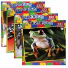 4-pack Variety of Puzzlebug 100 Piece Jigsaw Puzzles