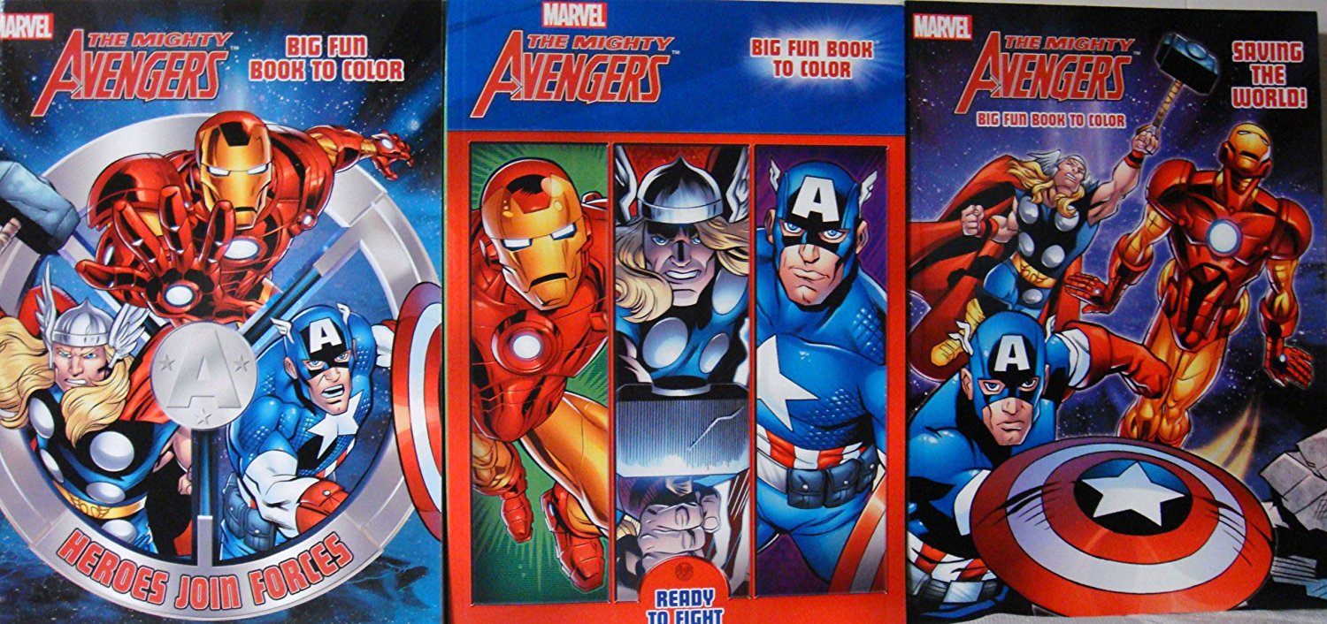 THE MIGHTY AVENGERS COLORING (3 BOOKS)