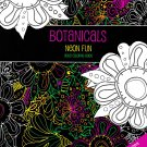Color Full Botanicals Neon Fun Adult Coloring Book