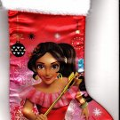 "Disney Elena of Avalor - 18"" Full Printed Satin Christmas Stocking with Plush Cuff - v2"
