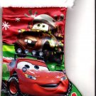 "Disney Cars - 18"" Full Printed Satin Christmas Stocking with Plush Cuff - v2"