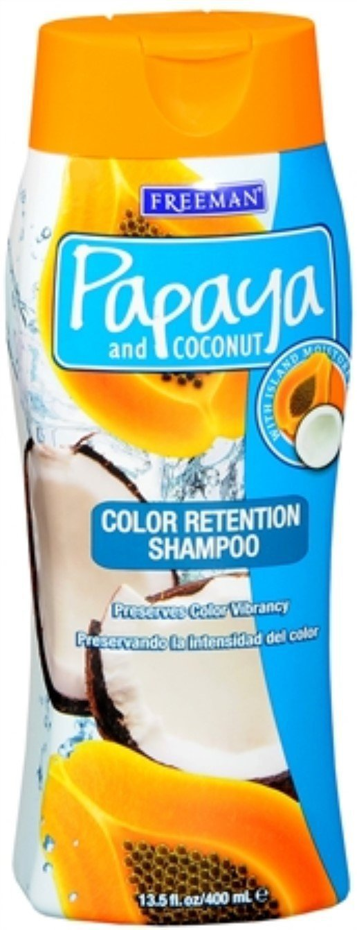 Freeman Papaya and Coconut Color Retention Shampoo 13.50 oz (Pack of 3)