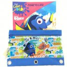Disney Finding Dory & Nemo Coloring Activity Book Plus 3 Rings Pencil Case/Holder- 2 Packs