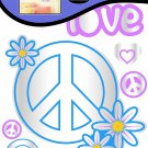 Sandylion Peace and Love Dimensional Wall Accent Stickers
