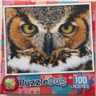 Great Horned Owl - PuzzleBug - 100 Piece Jigsaw Puzzle