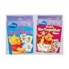 Set of 2 Disney I Can Learn with Pooh Baby Flash Cards