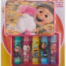 Despicable Me 5 Piece Townley Girl 3 Super Sparkly Lip Gloss Set for Girls