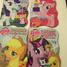 My Little Pony Friendship is Magic Set of 4 Educational Shaped Board Books