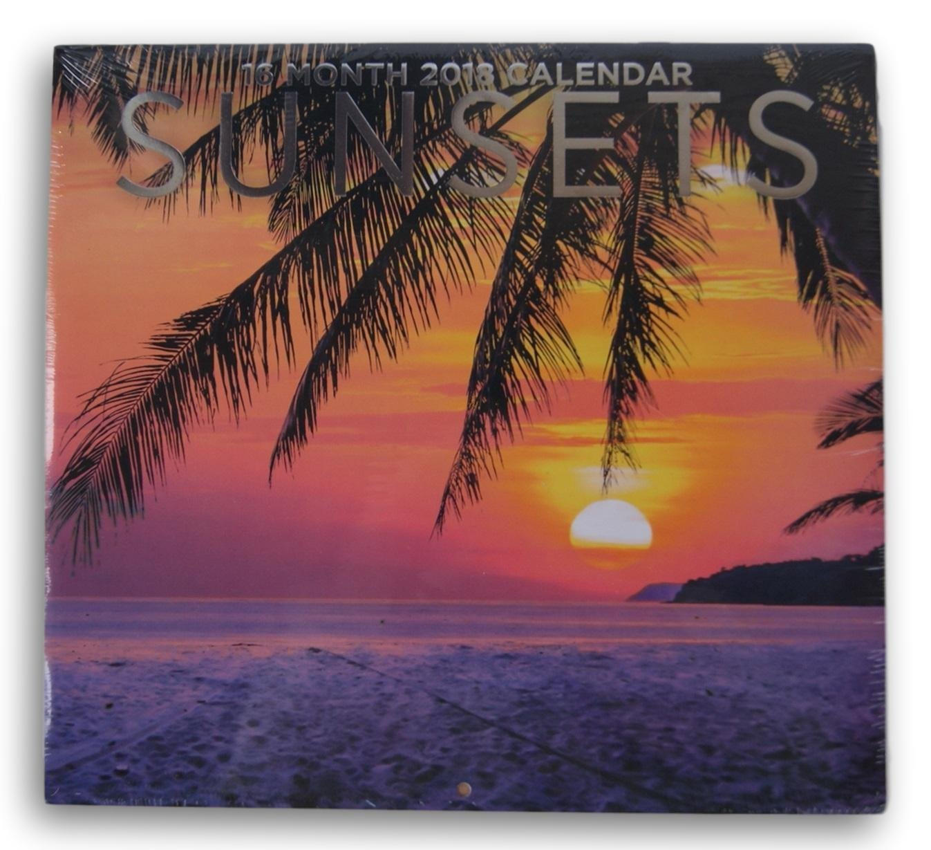 2018 Sunsets Color Monthly Wall Calendar, 12 x 22 Inches