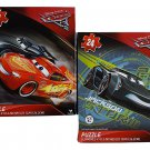 Pixar Cars3- 2 Assorted Puzzles:Lightning McQueen and Jacksow Storm Bundle Set (24 Piece Each)